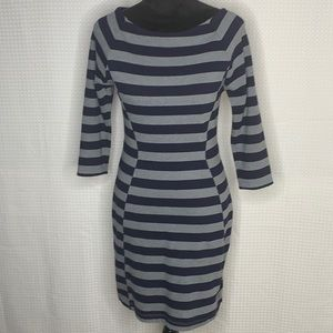 Gap Navy & Gray Striped 3/4 Slv Dress Size XS EUC